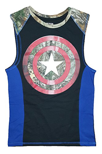 Captain America Realtree Camouflage Sleeveless Muscle Tee T-Shirt - 2XL