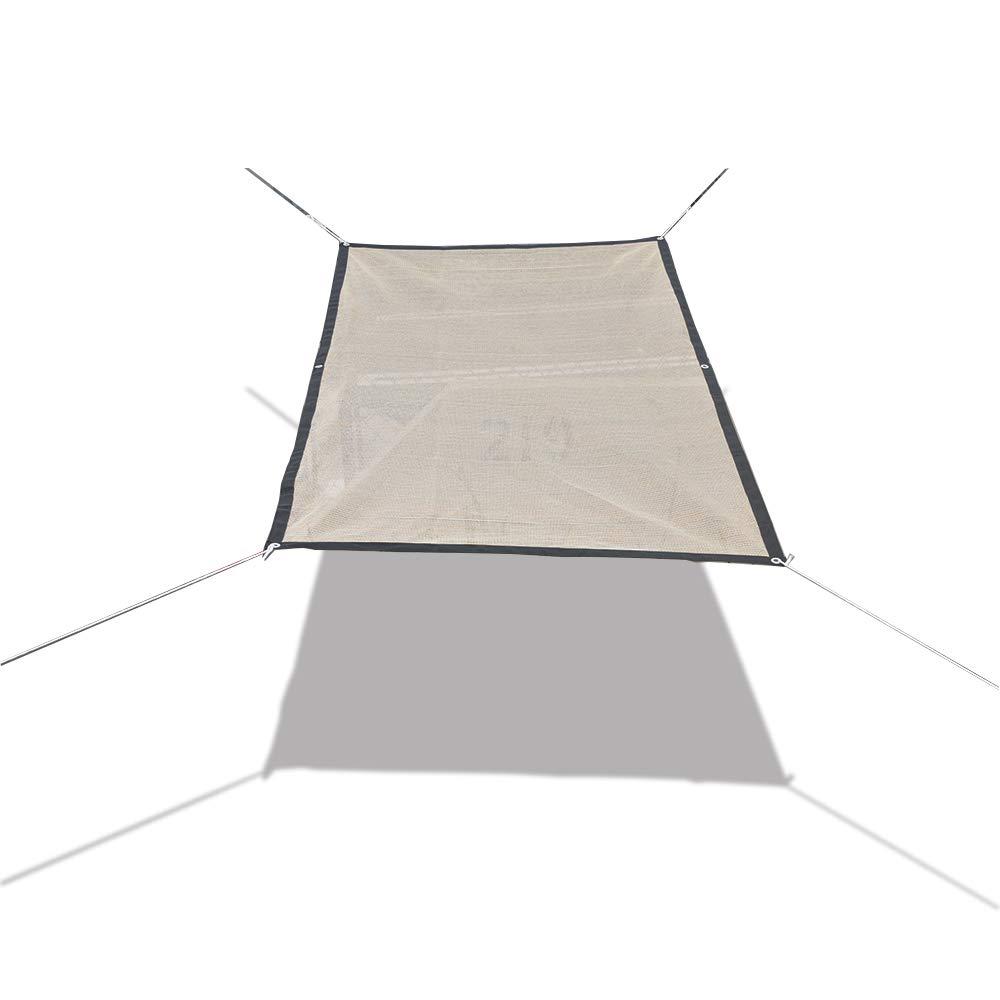 Alion Home HDPE 50% Sun Block Shade Cloth Garden Netting Fabric(6'x6'6'', Beige)
