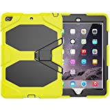 iPad 9.7 Case 2018 2017 - Dooge Kickstand Heavy Duty Shockproof Rugged Case Hard PC+Silicone High Impact Full Body Protective Case with Built in Screen Protector for Apple iPad 9.7 inch 2017 2018 Model