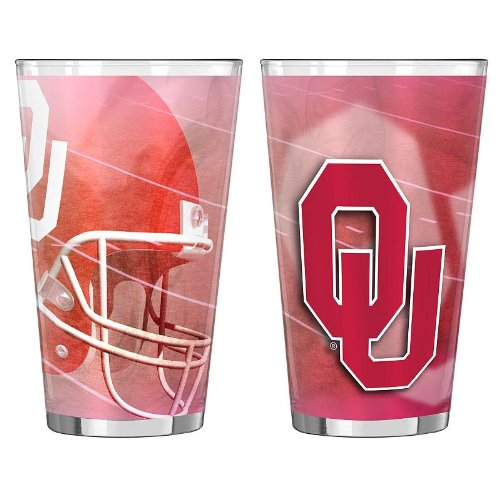 Oklahoma Sooners Team Glass Helmet - 2