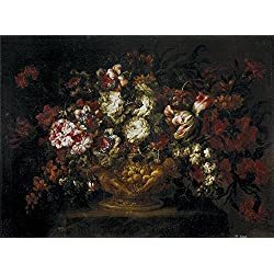 Oil Painting 'Corte Gabriel De La Florero 1670 80', 10 x 14 inch / 25 x 34 cm , on High Definition HD canvas prints is for Gifts And Gym, Home Office And Study Room Decoration, ideas