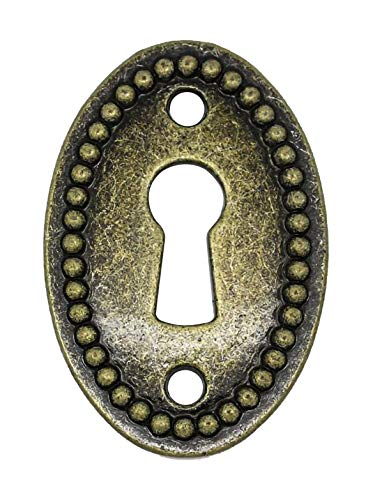 Noa Store B-260 (K-11A) Antique Brass Oval Beaded Keyhole ()