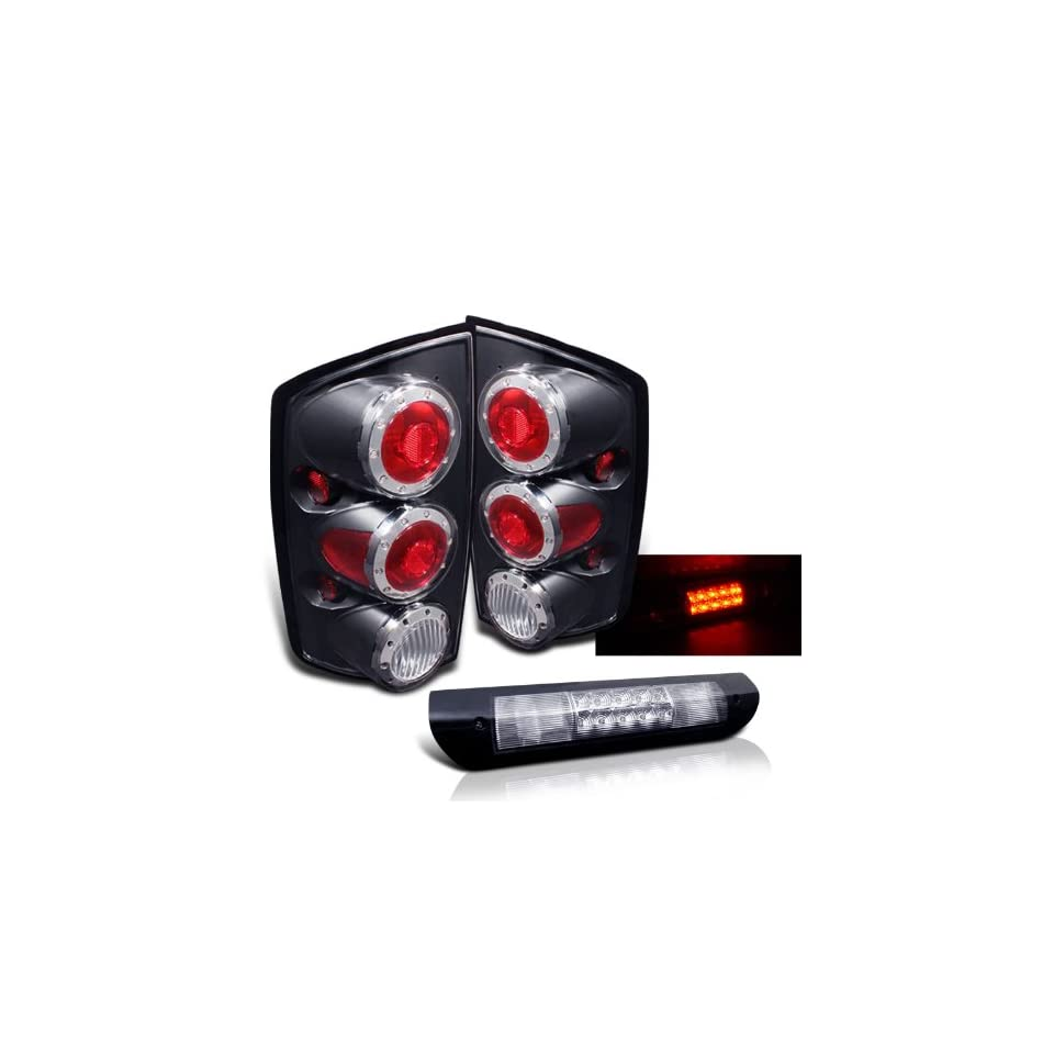Eautolights 02 06 Dodge Ram Black LED Tail Lights+led 3rd Brake Brand New Left+right Set
