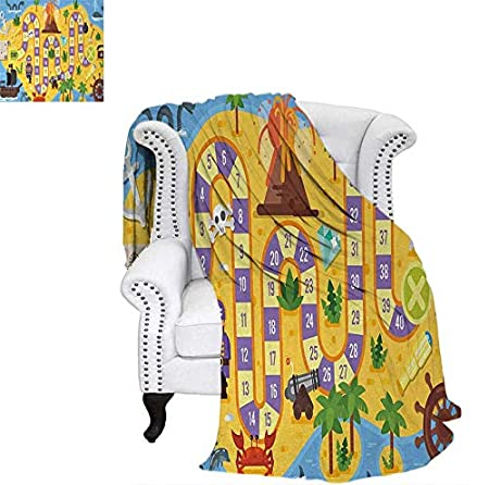 Super Soft Lightweight Blanket Helping The Lost Clowns Circus Themed Colorful Cartoon Amusement Park Design Oversized Travel Throw Cover Blanket 60'x36' Multicolor