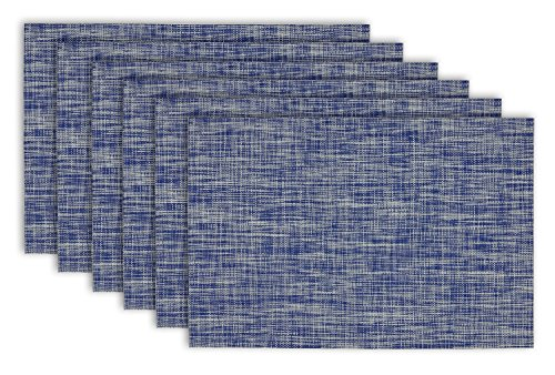 DII Everyday Crosshatched Placemats Nautical