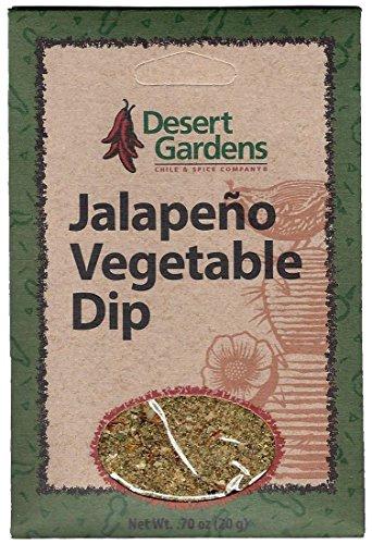 Desert Gardens Jalapeno Vegetable Dip Mix (Pack of 4) - Garden Vegetable Dip