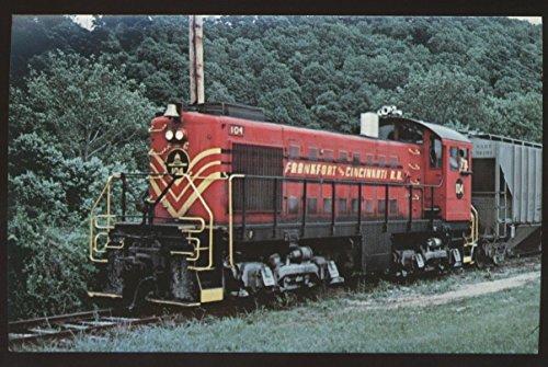 - Frankfort Cincinnati Railroad 104 ALCO S-2 Train Kentucky Yard Postcard