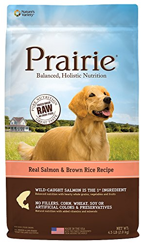 Prairie Real Salmon & Brown Rice Recipe Natural Dry Dog Food by Nature's Variety, 4.5 lb. Bag