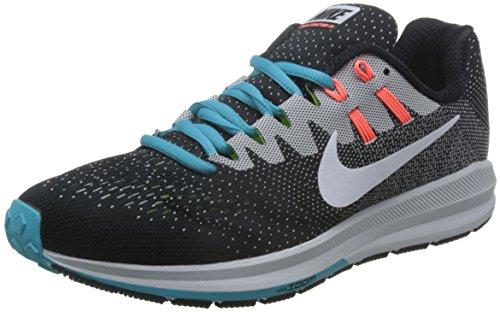 Nike Air Zoom struttura 20 scarpe uomo da corsa 849576 Scarpe da tennis (UK 9.5 US 10.5 Eu 44.5, Bianco Nero Platino Puro BLU 018)