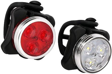 Gasea 2Pcs Luz de la Bicicleta, Luces Traseras de Bicicleta de ...