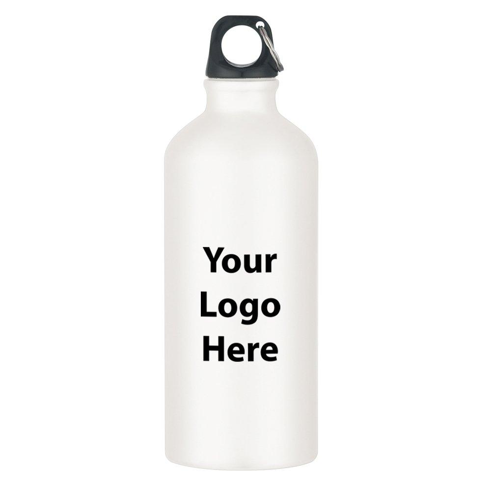 "20 Oz. Aluminum Bike Bottle - 36 Quantity - $3.49 Each - PROMOTIONAL PRODUCT / BULK / BRANDED with YOUR LOGO / CUSTOMIZED. Size: 8-1/4""H."