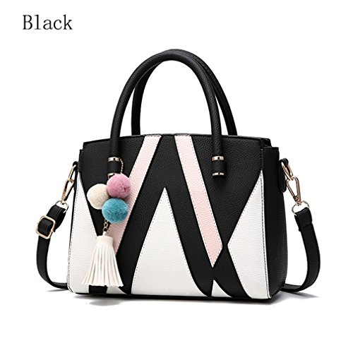 Handbag Bag Casual Women Crossbody Tote Women Women Women Panelled Bag Patchwork For Black Bag gqwdnCH