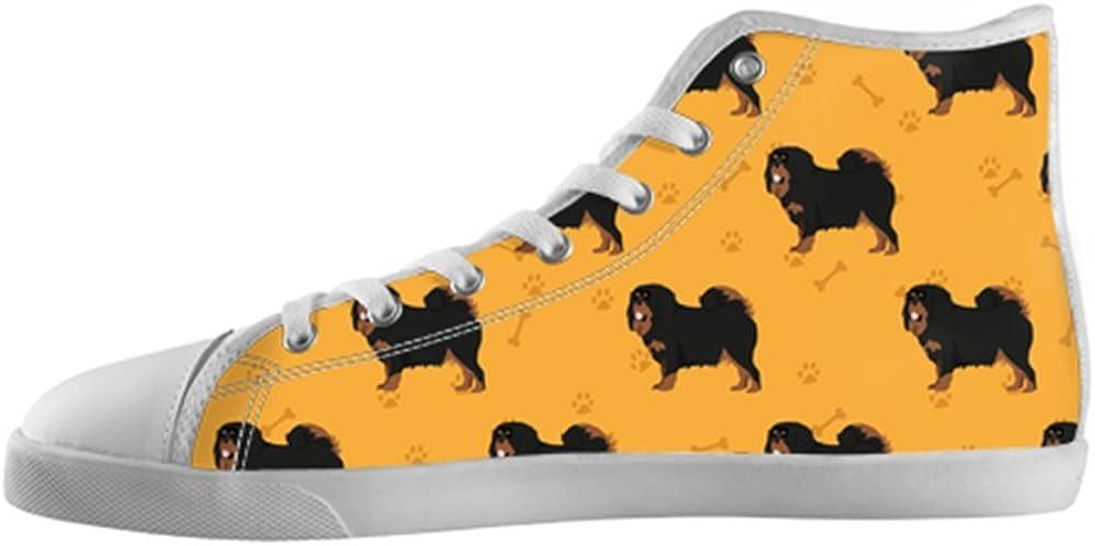 Tibetan Mastiff Shoes High Top Canvas Sneakers