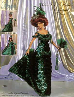 Ensemble Crochet Pattern - 1902 London Opera Ensemble Doll Crochet Collector Costume Pattern