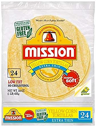 Mission Yellow Corn Tortillas Extra Thin Contains 8 Packs 24ct Amazon Com Grocery Gourmet Food
