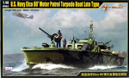 Elco Pt Boat - MRT64801 1:48 Merit US Navy Elco 80' Motor Patrol Torpedo Boat Late Type [MODEL BUILDING KIT] by Merit International