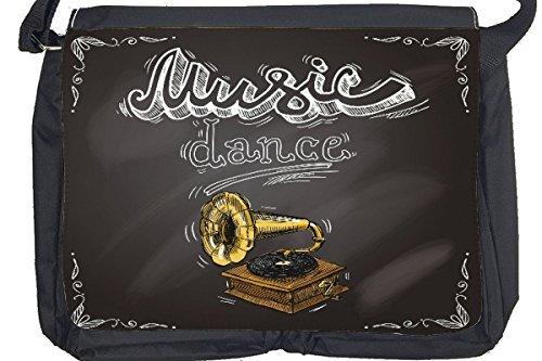 Borsa Tracolla Nostalgico Musica dance Stampato