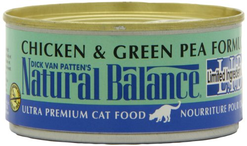 Natural Balance Canned Cat Food, Limited Ingredient Chicken and Green Pea Recipe, 24 x 6 Ounce Pack, My Pet Supplies
