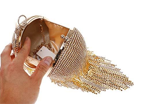 Boda Mujeres Las Patrón Fin Graduación Envelope Embrague Golden Style Cóctel Bag Para Bolso Bola Curso Clutch De Baile Fiesta El Nupcial Del La FHq04w