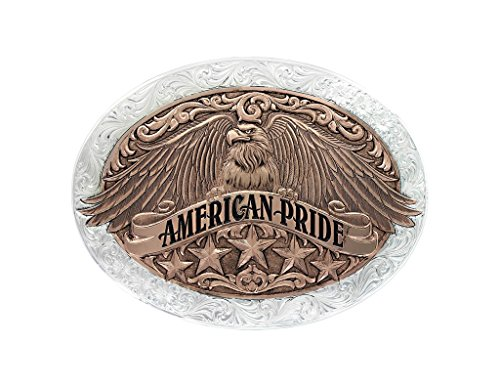 Montana Silversmiths Unisex Two Tone American Pride Buckle Silver One Size by Montana Silversmiths (Image #1)