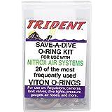 Trident Deluxe Save-A-Dive O-Ring Kit for Scuba Diving Tank Valves, Hoses, Regulators, Cameras etc Dive Diver (Standard Viton 20 Pieces)