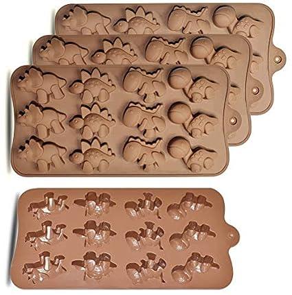 Amazon.com: homEdge 12-Cavity Dinosaur Chocolate Mold, Set of 4PCS Non Stick Food Grade Silicone Dinosaur Mold for Candy Chocolate Jelly, Ice Cube: Kitchen ...