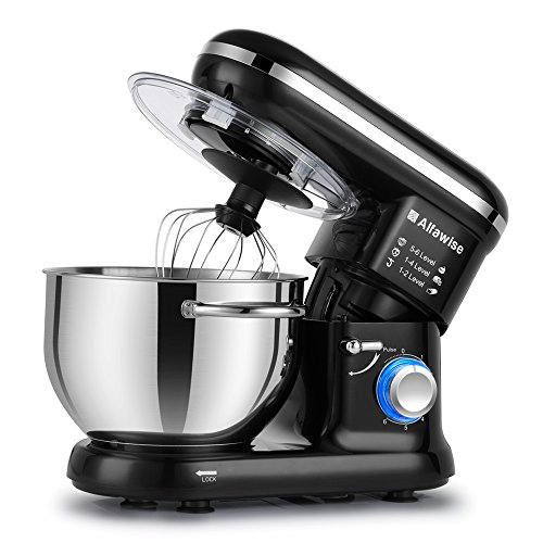 Alfawise Food Stand Mixer Dough Blender, 5.5 L 1090W MAX, 6 Speeds...