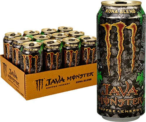 Java Monster Kona Blend, Coffee + Energy Drink, 15 Ounce (Pack of 12)