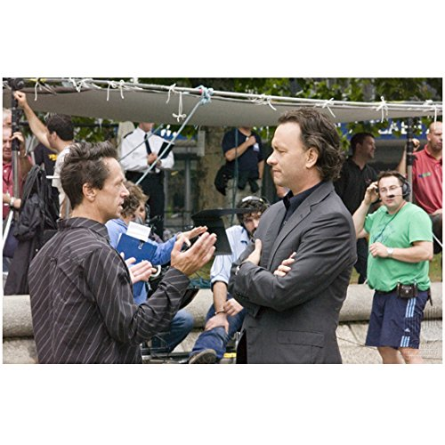Tom Hanks as Robert Langdon on the Set of The Da Vinci Code Standing Arms Crossed in Front 8 x 10 Inch Photo (10 Inch Concert Tom Set)