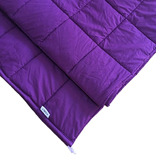 Sensory Weighted Blanket by ZonLi for Children and Adults - Relieves Anxiety, Stress, Agitation, Sleep Disorders, Insomnia, ADD, ADHD - 48''x 78'', 15 lbs, Purple by ZonLi