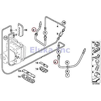 Amazon Com Bmw E53 X5 00 06 Brake Hose Rear Right Braking Line