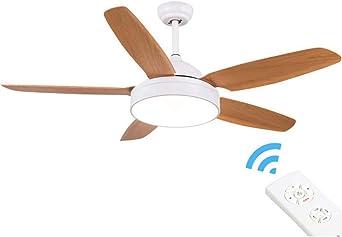 KLDX Ventilador de techo empotrable de 52 pulgadas con luz y ...