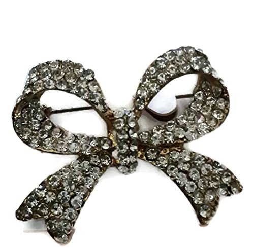 Bow Brooch - Rhinestones Dior With Eyeglasses