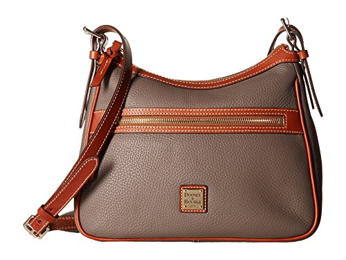 Dooney & Bourke Leather Hobo Bag - Dooney & Bourke Piper Pebble Leather Hobo Crossbody Elephant