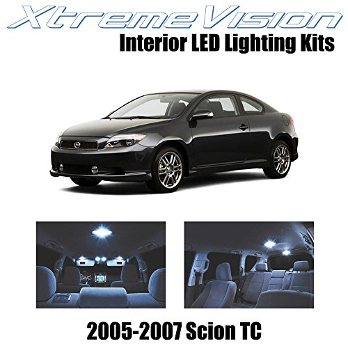 - XtremeVision Interior LED for Scion TC 2005-2007 (10 Pieces) Cool White Interior LED Kit + Installation Tool