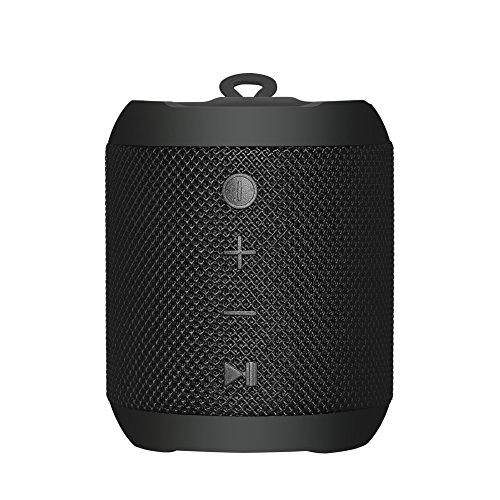 Sbode Bluetooth Speaker Portable Waterproof Outdoor Wireless Shower Speakers, 12W Stereo Sound, Sync Together, Built in Mic, TF Card, Auto Off, FM Radio for Beach, Party, Home – Black