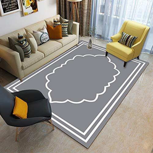 Liveinu Cr/éateur Tapis Moderne Contours D/écoup/és Couleurs Pastel Losanges Design Tapis de Salon Chambre Salle /à Manger Antid/érapant 40x60cm XK03-1
