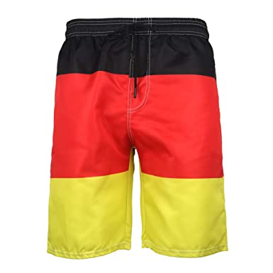 39fd4bfaf2 Men's Short Solid Swim Trunks with Mesh Lining Surfing Beach Board Shorts  Quick Dry Bathing Suits | Amazon.com