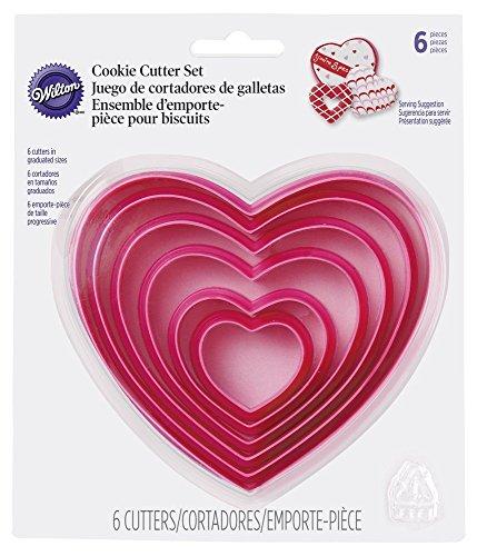 Wilton Nesting Heart Cutter Set (Heart Shaped Cookie Cutter)
