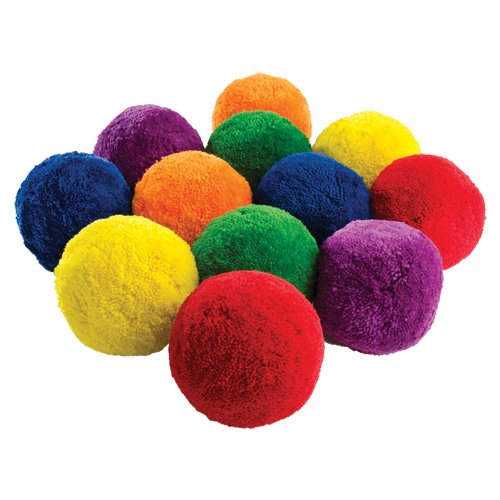 US Games Multi-Color 3″ Fleece Balls
