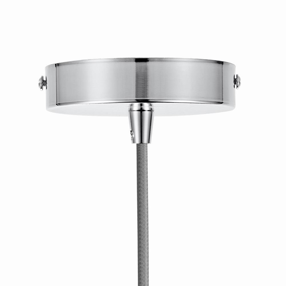 Silver Ceiling Rose,VLIKE PL01 Vintage Ceiling Pendants Light Fitting Braided Flex E27 Bulb Light Fitting Satin Nickel