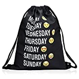Bagerly Gym Sack Bag Drawstring Backpack School Travel Backpack College Sackpack