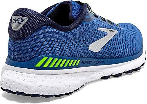 D 9.5 Brooks Mens Adrenaline GTS 20 Running Shoe Blue//Nightlife//White