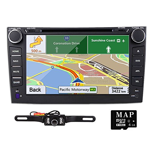 TOCADO 8'' Double 2Din In Dash Car DVD Player with Bluetooth iPod USB SD RDS GPS Navigation Car Stereo Radio for TOYOTA Corolla 2007 2008 2009 2010 2011 + Backup Camera