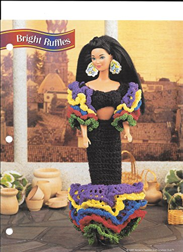 Annie's Fashion Doll Crochet Club Two Page Leaflet Pattern for 11 1/2