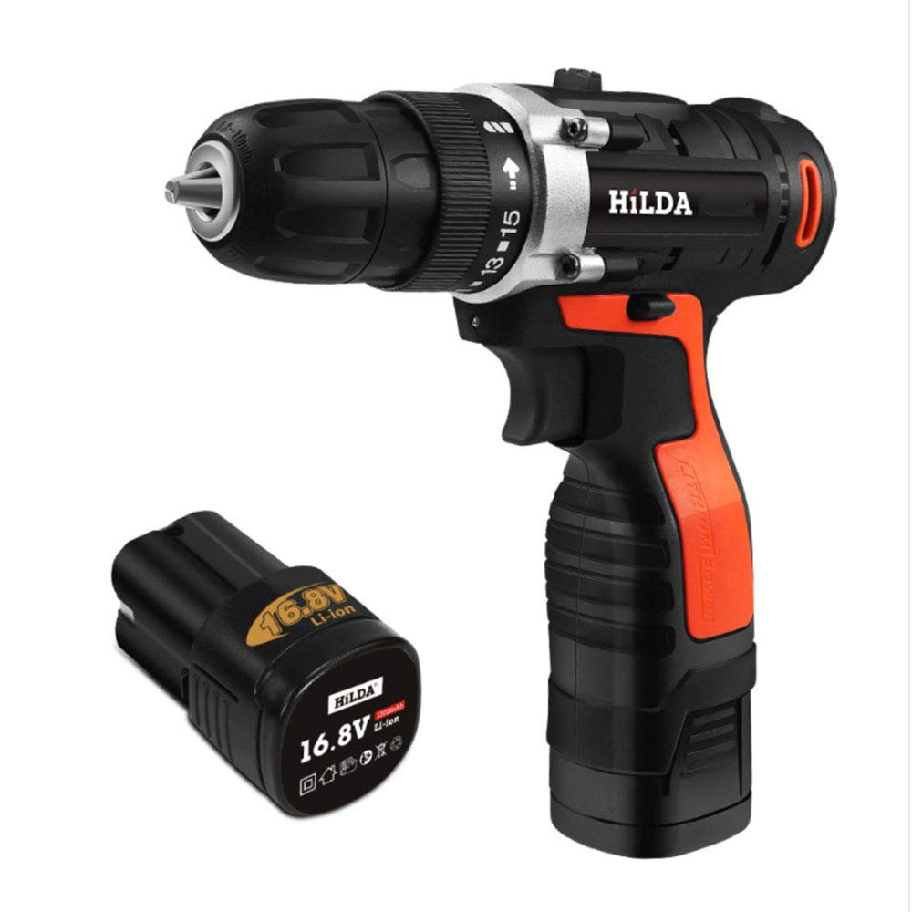 16.8V Cordless Screwdriver, Rechargeable Lithium Battery for Electric Drill, Waterproof Hand Drillcordless Electric Screwdriver Power Tool