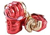 Fairzoo Iron-Man Smash Hands Fists Big Soft Plush Gloves Pair Costume Gold