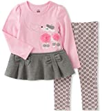 Kids Headquarters Little Girls' Tunic Legging Set, Pink/Grey, 6