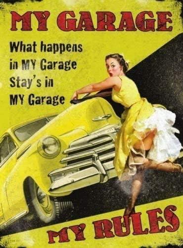 Garage Shed Studebaker Automobiles Advert Vintage Look Retro Metal Sign Plaque