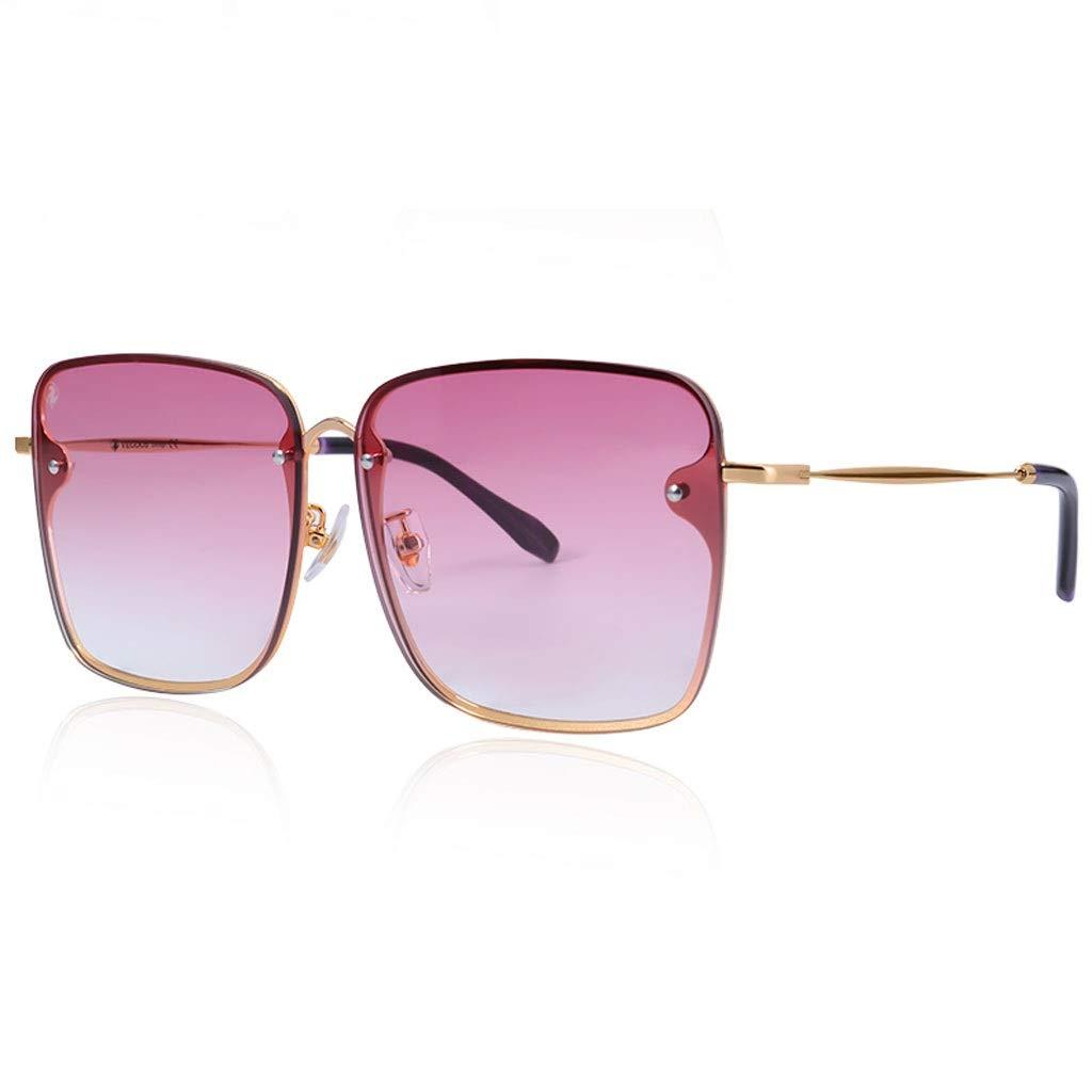 Weiyue サングラス- ユニセックスサングラスUV保護精密ヒンジナイロンレンズ、ゴム製鼻パッドサングラスパープル、ブラウン、ピンク (Color : Pink, Size : 14.8cm) 14.8cm Pink B07SPJ82SY